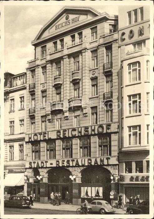 Hamburg Hotel Reichshof Kat. Hamburg