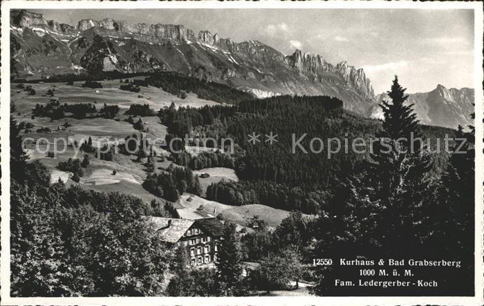 Grabserberg Kurhaus und Bad Alpenpanorama Kat. Grabserberg