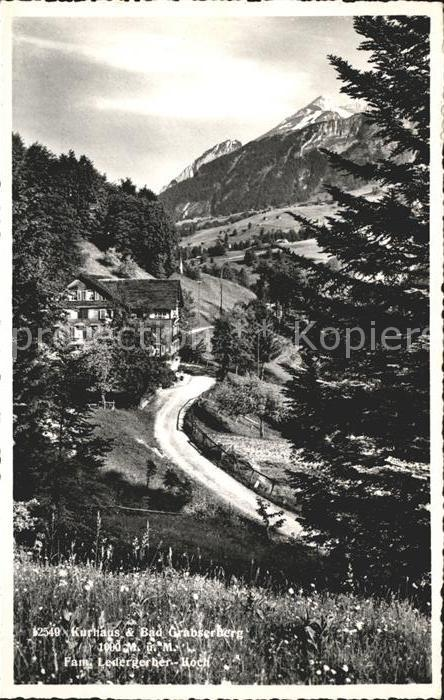 Grabserberg Kurhaus und Bad Alpenpanorama Bergwiese Kat. Grabserberg