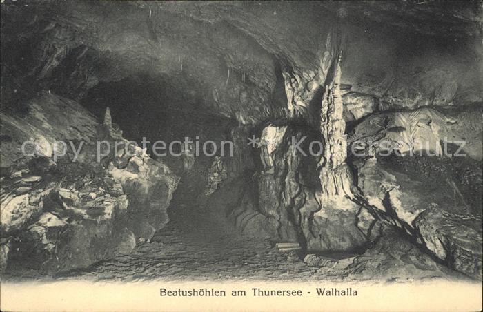 Beatushoehlen am Thunersee Walhalla Kat. Sundlauenen