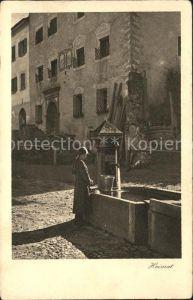 Stampa Maedchen am Brunnen Heimatkarte Kat. Stampa