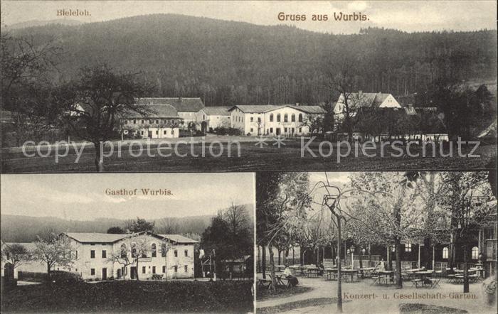 Wurbis Gasthof Wurbis Bieleloh Konzert- und Gesellschaftsgarten / Crostau /Bautzen LKR