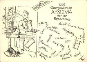 Regensburg Oberrealschule Absolvia Minor Studentika  / Regensburg /Regensburg LKR