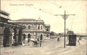 Colombo Ceylon Sri Lanka Chatham Street Strassenbahn  / Colombo /