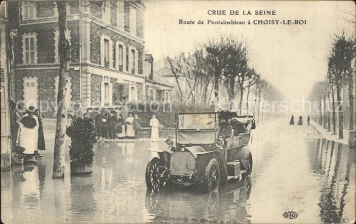 Choisy-le-Roi Crue de la Seine Route de Fontainebleau  / Choisy-le-Roi /Arrond. de Creteil