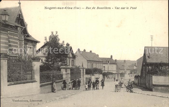 Nogent-sur-Oise Rue de Bonvillers Vue sur le Pont  / Nogent-sur-Oise /Arrond. de Senlis