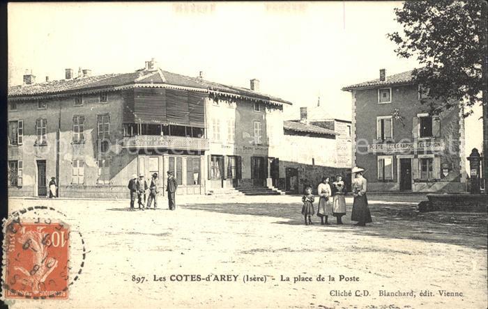 Les Cotes-d Arey La place de la Poste  / Les Cotes-d Arey /Arrond. de Vienne