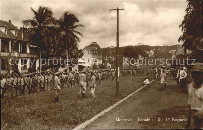 Monrovia Montserrado Parade 1 Regiment Soldaten / Monrovia /