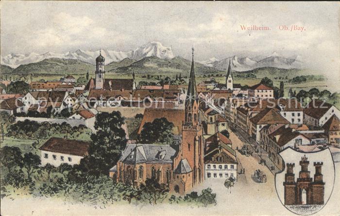 Weilheim Oberbayern Stadt / Weilheim i.OB /Weilheim-Schongau LKR