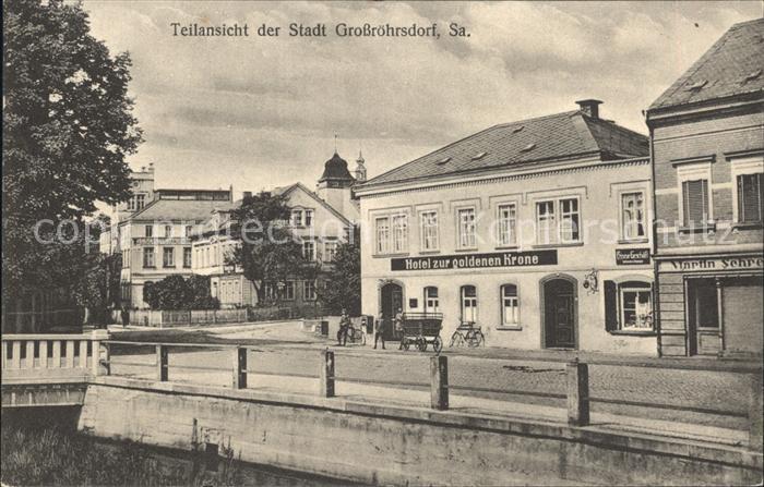 Grossroehrsdorf Sachsen Hotel zur goldenen Krone / Grossroehrsdorf Oberlausitz /Bautzen LKR