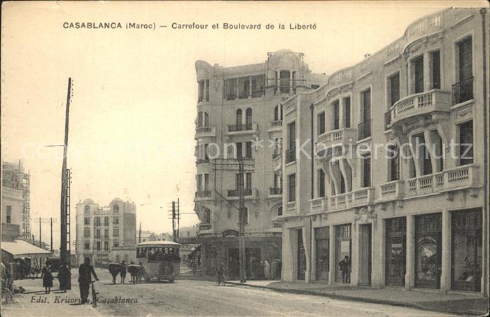 Casablanca Carrefour et Boulevard de la Liberte / Casablanca /