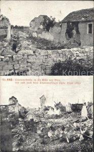 La Ville-aux-Bois Cravonnestrasse vor und nach Zerstoerung 1915 / La Ville-aux-Bois /Arrond. de Bar-sur-Aube