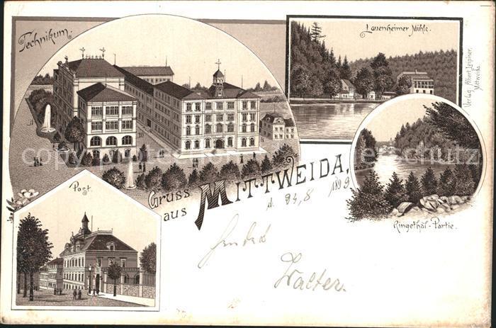 Mittweida Lauenheimer Muehle Post Technikum / Mittweida /Mittelsachsen LKR