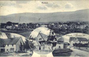 Rotzel Dorfstrasse Schulhaus Handlung von Luettin / Laufenburg (Baden) /Waldshut LKR