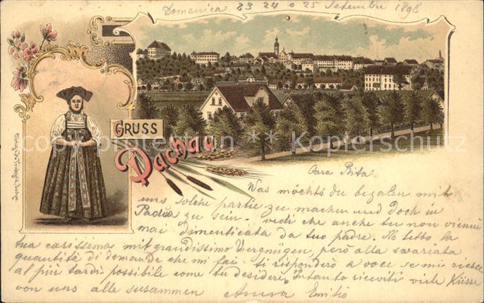 Dachau Gesamtansicht Frau in Tracht / Dachau /Dachau LKR