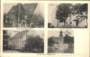 Siegendorf Oberschwarzach Schule Kriegerdenkmal Warenhandlung Gasthaus / Oberschwarzach /Schweinfurt LKR