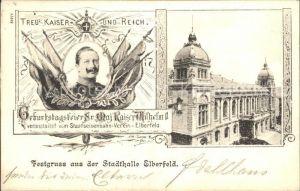 Elberfeld Wuppertal Geburtstagsfeier Kaiser Wilhelm II. / Wuppertal /Wuppertal Stadtkreis