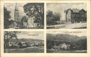 Roedinghausen Kirche Kriegerdenkmal Westfaelisches Bauerngehoeft / Roedinghausen /Herford LKR