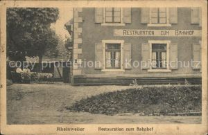 Rheinweiler restauration zum Bahnhof / Bad Bellingen /Loerrach LKR