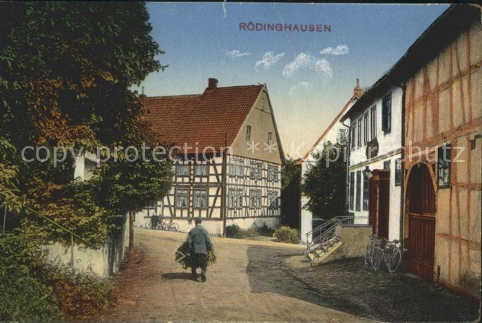 Roedinghausen Strasse Haeuser / Roedinghausen /Herford LKR