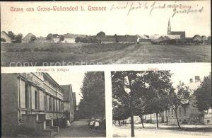 Gross Woltersdorf Gesamtansicht Gasthof Krueger Schule / Gross Pankow Prignitz /Prignitz LKR