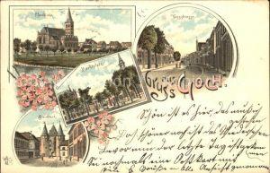 Goch Pfarrkirche Steintor Marktplatz / Goch /Kleve LKR