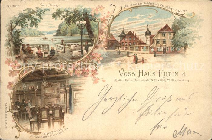 Eutin Voss- Haus Voss- Bruecke / Eutin /Ostholstein LKR
