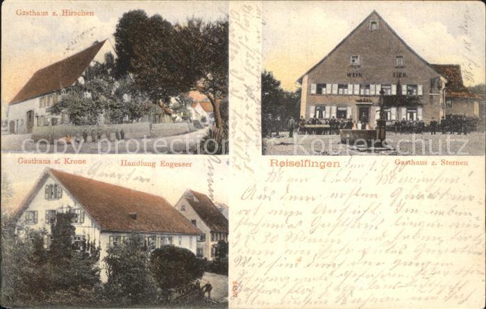 Reiselfingen Gasthaus zum Sternen Gasthaus zum Hirschen Gasthaus zur Krone / Loeffingen /Breisgau-Hochschwarzwald LKR