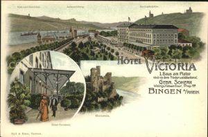 Bingen Rhein Hotel Victoria Rheinstein Hotel- Terrasse / Bingen am Rhein /Mainz-Bingen LKR