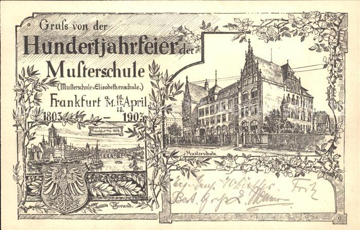 Frankfurt Main Hundertjahrfeier Der Musterschule Frankfurt Am Main Frankfurt Main Stadtkreis