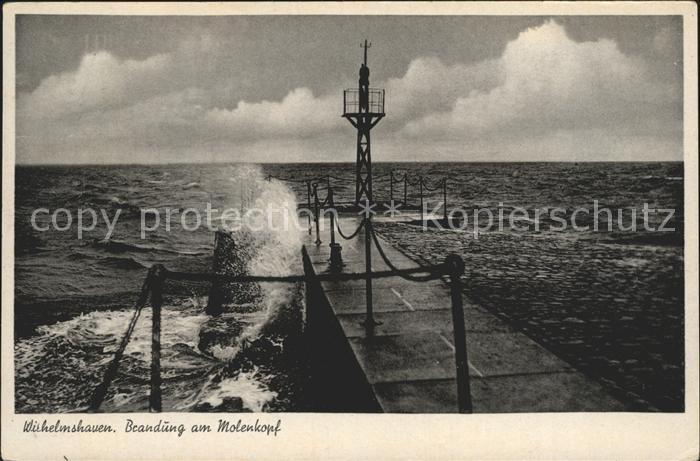 Wilhelmshaven Brandung Molenkopf  Kat. Wilhelmshaven