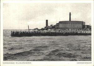 Wilhelmshaven Hafeneinfahrt Kat. Wilhelmshaven