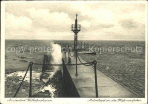 Wilhelmshaven Molenkopf Hafeneinfahrt Kat. Wilhelmshaven