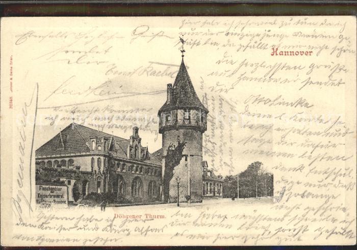 Hannover Doehrener Thurm Kat. Hannover