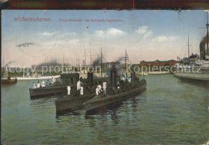 Wilhelmshaven Torpedoboote im Reichskriegshafen Kat. Wilhelmshaven