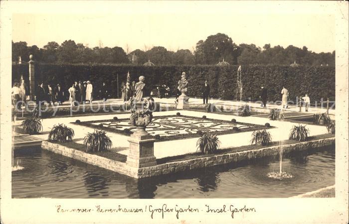 Herrenhausen Hannover Grosser Garten Insel  Garten Kat. Hannover