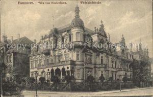 Hannover Villa Hindenburgs Wedekindstrasse Kat. Hannover