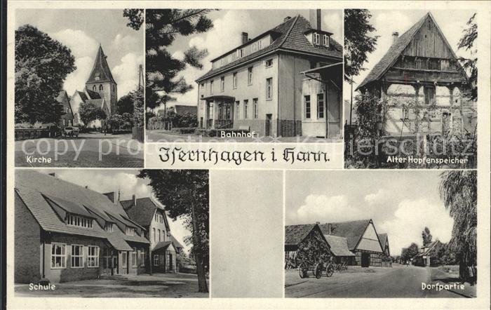 Isernhagen Bahnhof Kirche Schule Kat. Isernhagen
