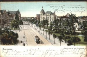 Hannover Georgstrasse mit Hannoversche Bank Kat. Hannover