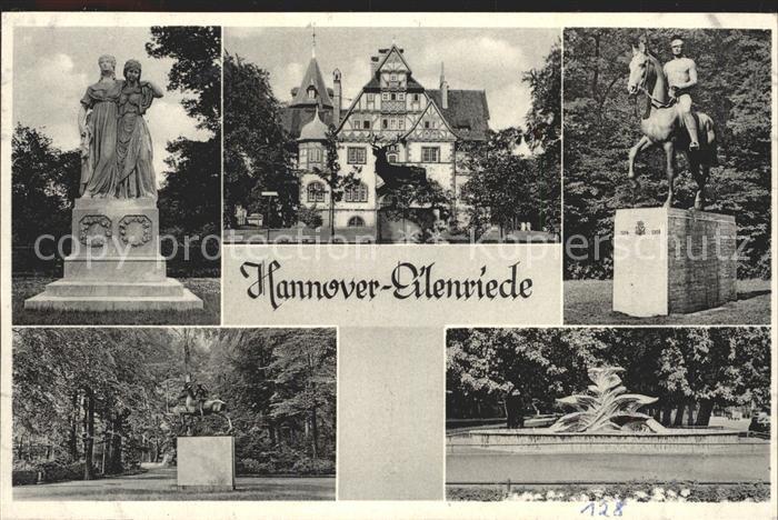 Hannover Eilenriede Denkmal Brunnen Kat. Hannover