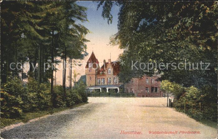 Hannover Waldwirtschaft Pferdeturm Kat. Hannover
