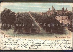 Hannover Herrenhaeuser Allee Schloss Kat. Hannover