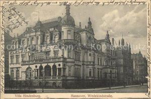 Hannover Villa Hindenburg Wedekindstrasse Kat. Hannover