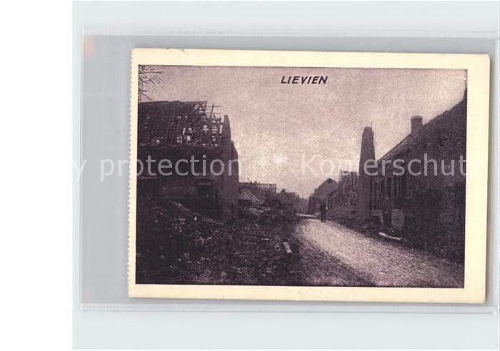 Lievin Kriegszerstoerung Ruinen WK1 Kat. Lievin