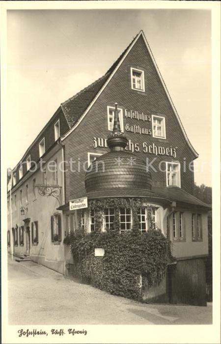 Hohnstein Saechsische Schweiz Gasthaus zur Saechsischen Schweiz Kat. Hohnstein