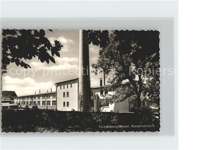 Fuerstenberg Weser Porzellanfabrik Kat. Fuerstenberg