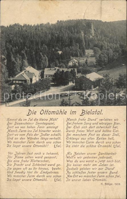 Rosenthal Bielatal Gaststaette Ottomuehle Gedicht Kat. Rosenthal Bielatal