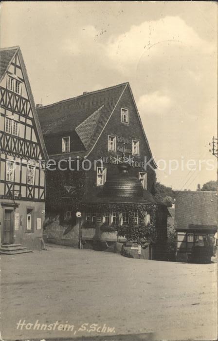 Hohnstein Saechsische Schweiz Gasthaus  Kat. Hohnstein