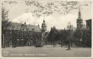 Riesa Sachsen Marktplatz Rathaus  Kat. Riesa