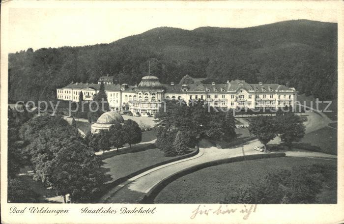 Bad Wildungen Staatliches Badehotel Kat. Bad Wildungen